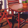 Image of wood garden furniture
